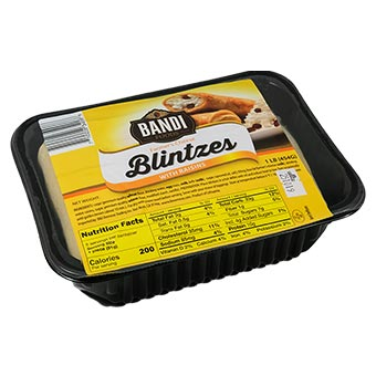Bandi Sweet Cheese Blintzes with Raisins 1lb