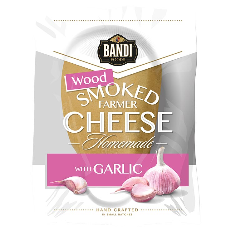 Bandi Wood Smoked Farmer Cheese with Garlic 250g