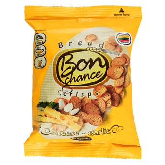 Bon Chance Cheese & Garlic Bread Crisps