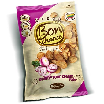 Bon Chance Sour Cream & Onion Bread Crisps