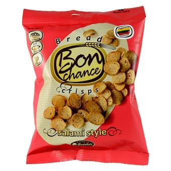 Bon Chance Salami Taste Bread Crisps 60g