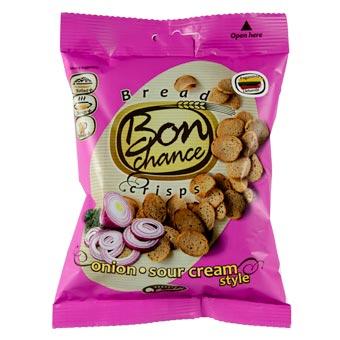 Bon Chance Sour Cream Flavored Crisps with Onion 60g
