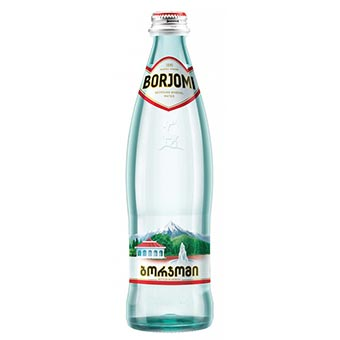 Borjomi Natural Sparkling Mineral Water 0.5 L