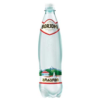 Borjomi Natural Sparkling Mineral Water 0.75 L