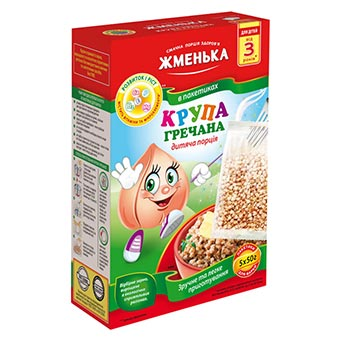 Zhmenka Buckwheat Grains for Kids 5 packs (5x50g)