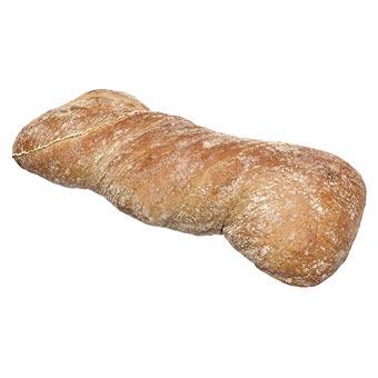 Ciabatta Half Raw Dark Italian Bread