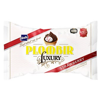 Dadu Bandi Plombir Luxury Strawberry Ice Cream