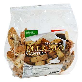 Delicato Mini Biscotti with Hazelnuts and Raisins 200g