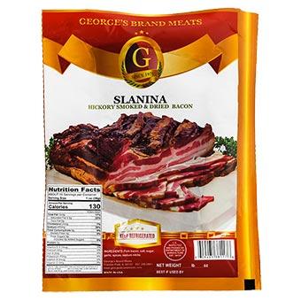 Georges Brand Slanina Hickory Smoked Dried Bacon