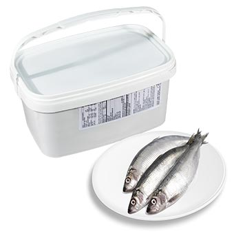 Bandi Lightly Salted Herring with Head in Bucket 2.5kg