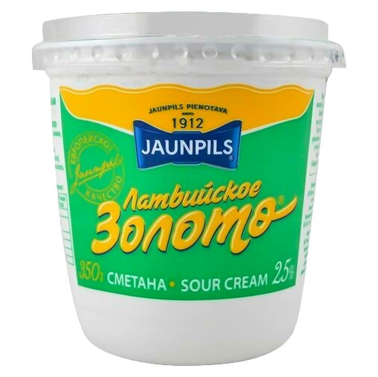 Jaunpils Latvijskoe Zoloto Sour Cream 25% 350g