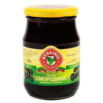 Kedainiu Grated Black Currant with Sugar