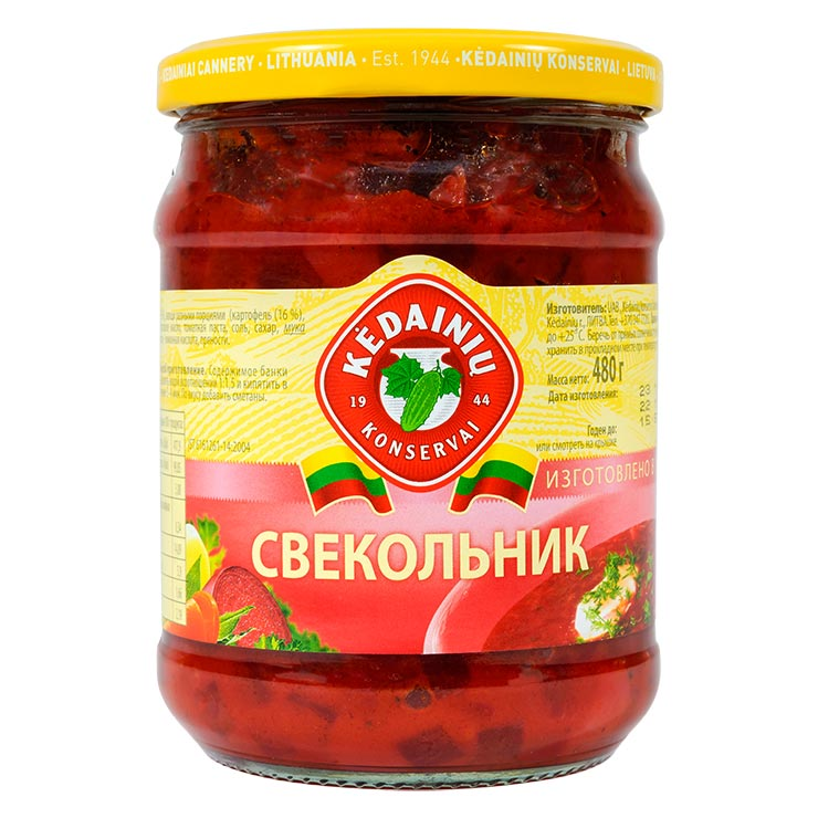 Kedainiu Svekolnik Condensed Red Beetroot Soup 480g