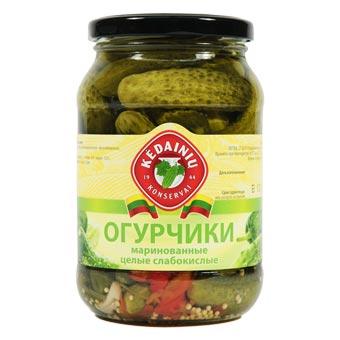 Kedainiu Whole Pickled Mini Cucumbers in Brine