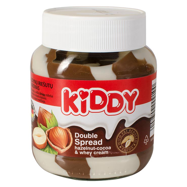 Kiddy Duo Hazelnut Cocoa and Whey Cream Spread 700g