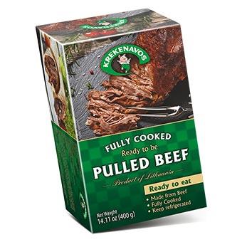 Krekenavos Ready Pulled Beef 400g