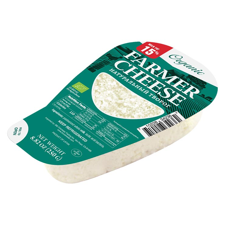 Organic Bandi Farmer Cheese 15% Whole Fat 250g
