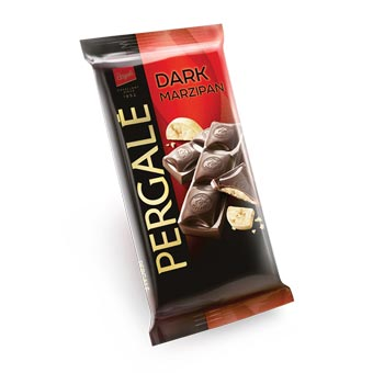 Pergale Dark Chocolate with Marzipan Filling