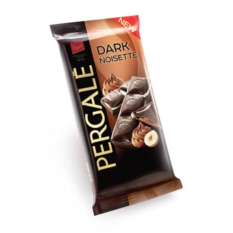 Pergale Dark Chocolate with Noisette Filling