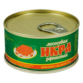 Red Salmon Caviar Roe in Can with Easy Opener 113g