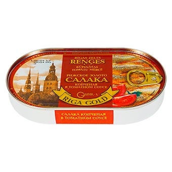Riga Gold Smoked Baltic Herring in Tomato Souce (Easy Opener) 190g
