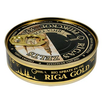 Riga Gold Smoked Big Sprats in Oil EO 160g