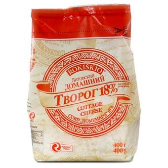 Rokiskio Homestyle Farmer Cheese 18% fat