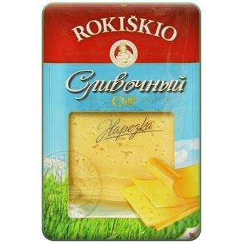 Rokiskio Sliced Creamy Cheese