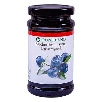 Runoland Wild Blueberries in Syrup 230g