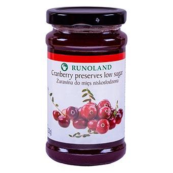 Runoland Cranberry Preserves Low Sugar 220g