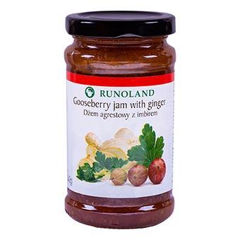 Runoland Gooseberry Jam with Ginger 240g