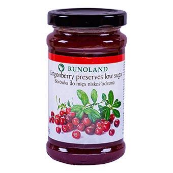 Runoland Lingonberry Preserves Low Sugar 220g