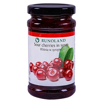 Runoland Sour Cherries in Syrup 230g