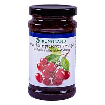 Runoland Sour Cherry Preserves Low Sugar 240g