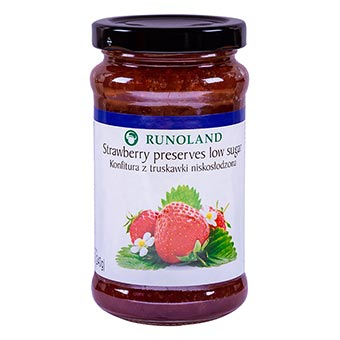 Runoland Strawberry Preserves Low Sugar 240g