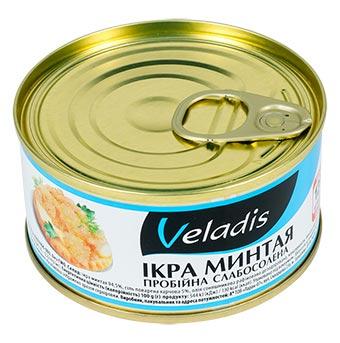 Veladis Alaska Pollock Roe Slightly Salted Can 120g
