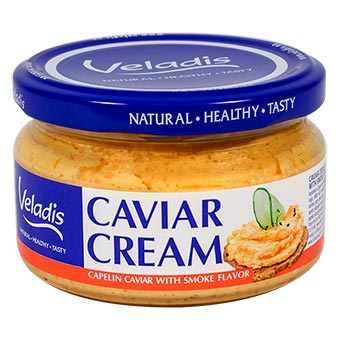 Veladis Capelin Roe in Creamy Sauce with Smoke Flavor Glass Jar 180g