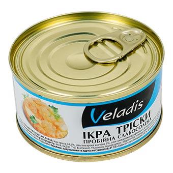 Veladis Cod Roe Slightly Salted Can 120g