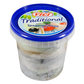 Vici Herring Fillet Traditional in Oil 600g