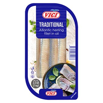 Vici Herring Fillet Traditional in Oil 1000g