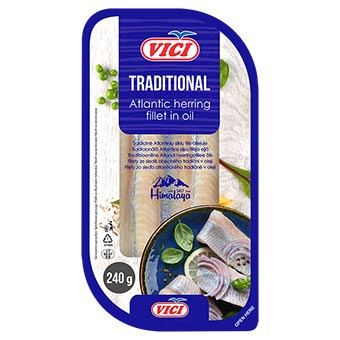 Vici Herring Fillet Traditional in Oil 240g