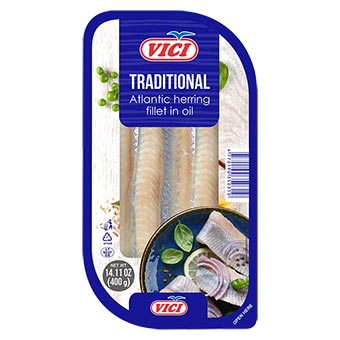 Vici Herring Fillet Traditional in Oil 400g