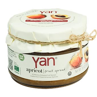 YAN Premium Apricot Fruit Spread 10oz