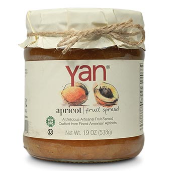 Yan Apricot Fruit Spread 19oz