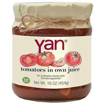 Yan Tomatoes In Own Juice 16oz