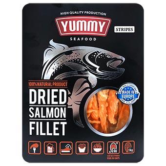 Yummy Dried Salmon Stripes 1kg