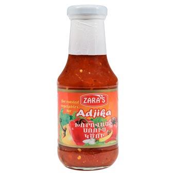 Zaras Adjika Fire Roasted Vegetables Hot Sauce