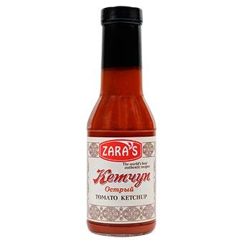 Zaras Hot Tomato Ketchup 340g