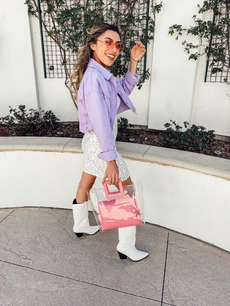 Alexis Alcala wearing pastels for spring summer 2019