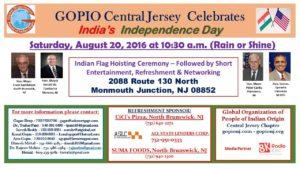 Aug 20, 2016: Indian Flag Hoisting Ceremony